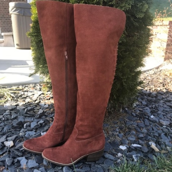 5d316ebc732 Lucky Brand Khlonn toffee Over the knee boots
